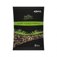 AQUAEL NATURAL MULTICOLORED GRAVEL 3-5 мм 2 кг